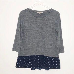 Loft | Gray Long Sleeve Sweater Size Small